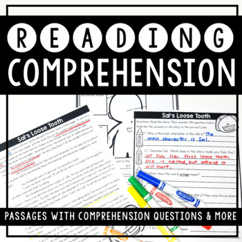 Reading Comprehension Passages and Graphic Organizers (2nd Grade)