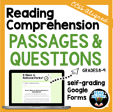 Reading Comprehension Passages and Multiple Choice Questio