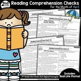 Reading Comprehension Passages and Questions: April (2nd Grade)