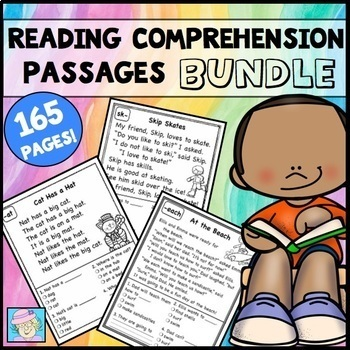 Reading Comprehension Passages and Questions BUNDLE with BOOM CARDS ELA
