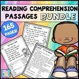 Reading Comprehension Passages & Questions 1st Grade Kinder BUNDLE & Boom Cards