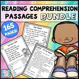 Reading Comprehension Passages & Questions 1st Grade Kinder BUNDLE & Boom Cards