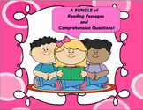 Back to School BUNDLE  Reading Comprehension Passages and Questions