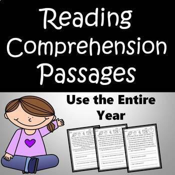 Reading Comprehension Passages and Questions - BUNDLE Grades 3-5