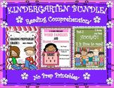 Reading Comprehension Passages and Questions Bundle  No Prep!  Printables!
