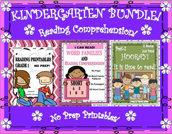 Back to School Reading Comprehension Passages and Questions Bundle Printables!