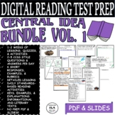 Reading Comprehension Passages and Questions Central Idea Lesson Digital