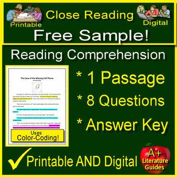 Free Close Reading Test Prep | Teachers Pay Teachers