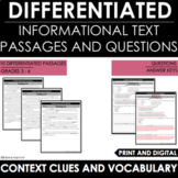 Reading Comprehension Passages and Questions - Context Clu