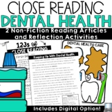 Reading Comprehension Passages and Questions Dental Health
