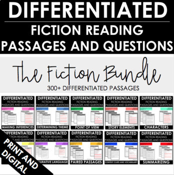 Reading Comprehension Passages and Questions | Differentiated | Fiction