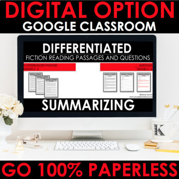 Reading Comprehension Passages and Questions Google Classroom Distance Learning