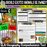 Reading Comprehension Passages and Questions (Exotic Animals Debate) Grade 6