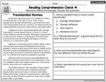 Reading Comprehension Passages and Questions February (3rd Grade)