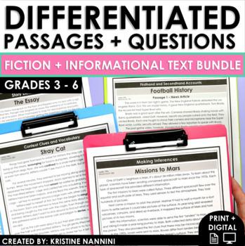 Reading Comprehension Passages and Questions - Fiction and Nonfiction BUNDLE
