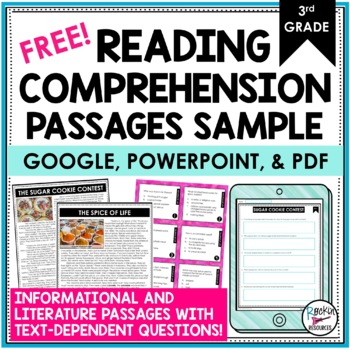 Reading Comprehension Passages and Questions Free 3rd Grade ...