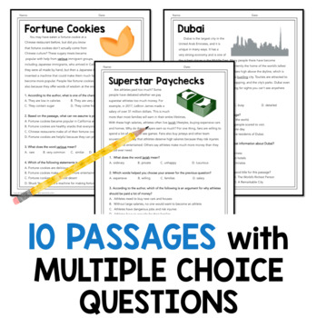 Reading Comprehension Passages and Questions Grades 4-6