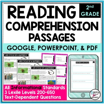 Reading Comprehension Passages and Questions Informational Text Dependent 2nd