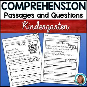 Kindergarten Reading Comprehension Passages and Question
