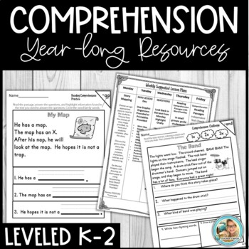 Reading Comprehension Passages and Questions Kindergarten - 3rd  YEARLONG