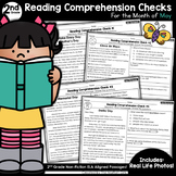 Reading Comprehension Passages and Questions: May (2nd Grade)