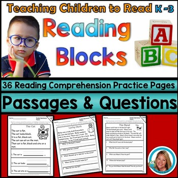 Reading Comprehension Passages and Questions PRACTICE Kindergarten -3rd