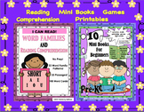 Reading Comprehension Passages and Questions Printables Games  BUNDLE  K-1