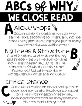 Reading Comprehension Passages and Questions Rocks Close Reading