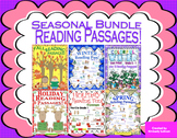 Reading Comprehension Passages and Questions Seasonal Bundle