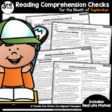 Reading Comprehension Passages and Questions September (3rd Grade)