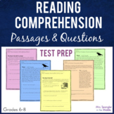 Reading Comprehension Passages and Questions Set   Test Pr