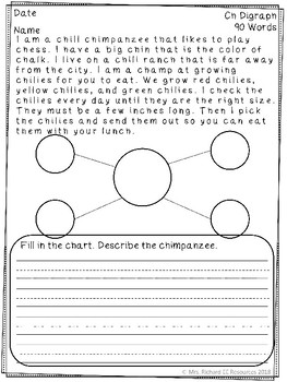 Reading Comprehension Passages and Questions: Digraphs
