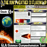 Reading Comprehension Passages and Questions (Storms on the Sun) Gr 6