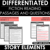 Reading Comprehension Passages and Questions - Story Eleme