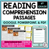 Reading Comprehension Passages and Questions Text Dependent Analysis