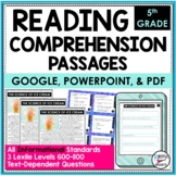 Reading Comprehension Passages/Questions Informational 5th