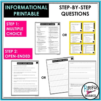 Reading Comprehension Passages and Questions Text Dependent Analysis Bundle
