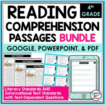 Reading Comprehension Passages and Questions Bundle 4th | Distance Learning