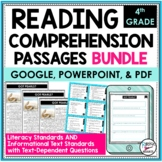 Reading Comprehension Passages and Questions Bundle 4th   Distance Learning