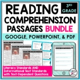 Reading Comprehension Passages and Questions Bundle 3rd |