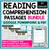 Reading Comprehension Passages and Questions Bundle 5th   Distance Learning