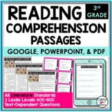 Reading Comprehension Passages and Questions Text Dependent Analysis Literature