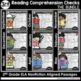 Reading Comprehension Passages and Questions The Bundle (3rd Grade)