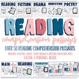 Reading Comprehension Passages with multiple choice 4th & 5th grade BIG BUNDLE
