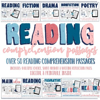 Reading Passages with Comprehension Questions BUNDLE 4th grade & 5th grade