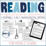 Reading Comprehension Passages for 7th grade & 8th- Critical Thinking Activity