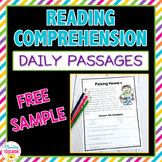 Reading Comprehension Passages and Questions Free Sample