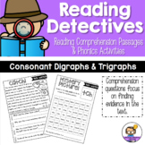 Reading Comprehension Passages and Questions with Phonics Activities - Digraphs