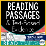 Reading Comprehension Passages and Responding with Text Evidence
