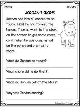 Reading Comprehension Passages {by phonics skill!}